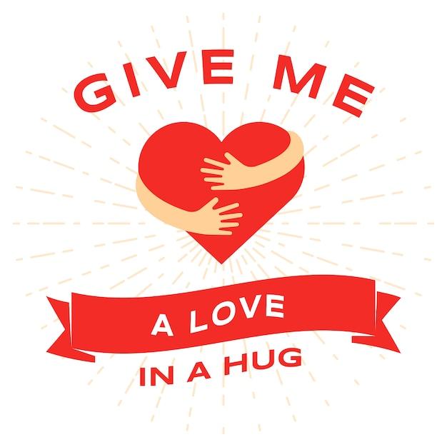 バレンタインの日フラットグリーティングカードテンプレート。 2月14日、ロマンチックな休日のお祝い Premiumベクター