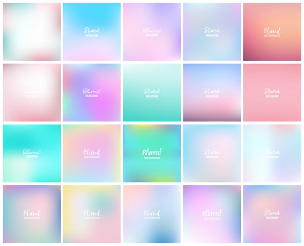 20 blurred abstract background Premium Vector