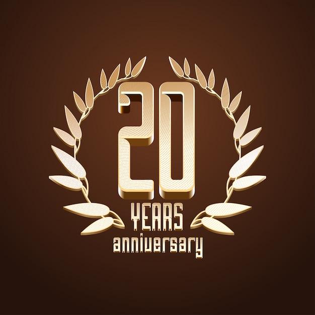 20 лет Premium векторы