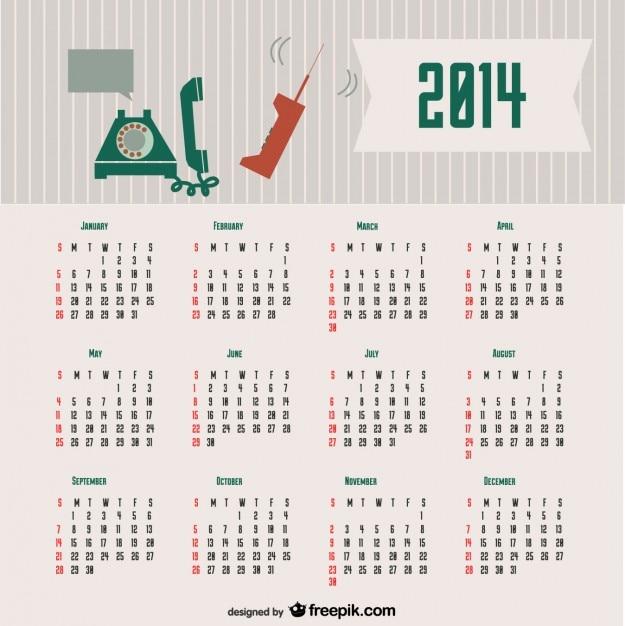 Calendar Design Concept : Calendar retro communication concept design vector