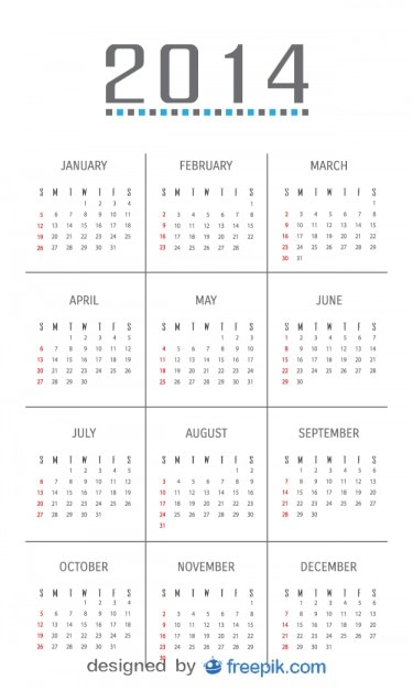 Minimalist Calendar Design : Calendar with minimalist design vector free download