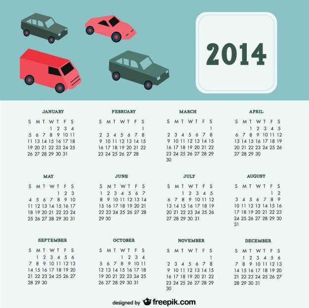 Calendar Design Freepik : Cars calendar design vector free download