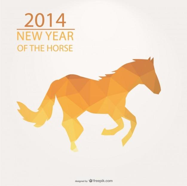 Треугольник дизайн для 2014 год лошади Бесплатные векторы