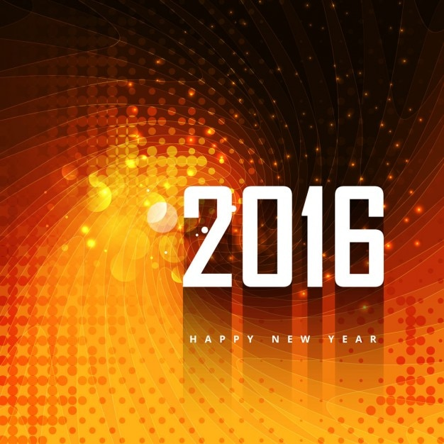 2016 background in color orange Free Vector