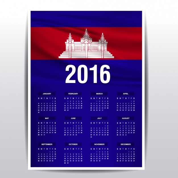 Khmer Monthly Calendar : Calendar of cambodia vector free download