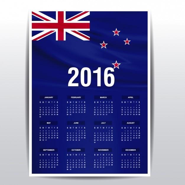 Calendar May New Zealand : Calendar of new zealand flag vector free download