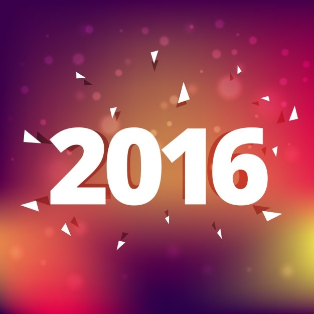 2016 new year on blurry background
