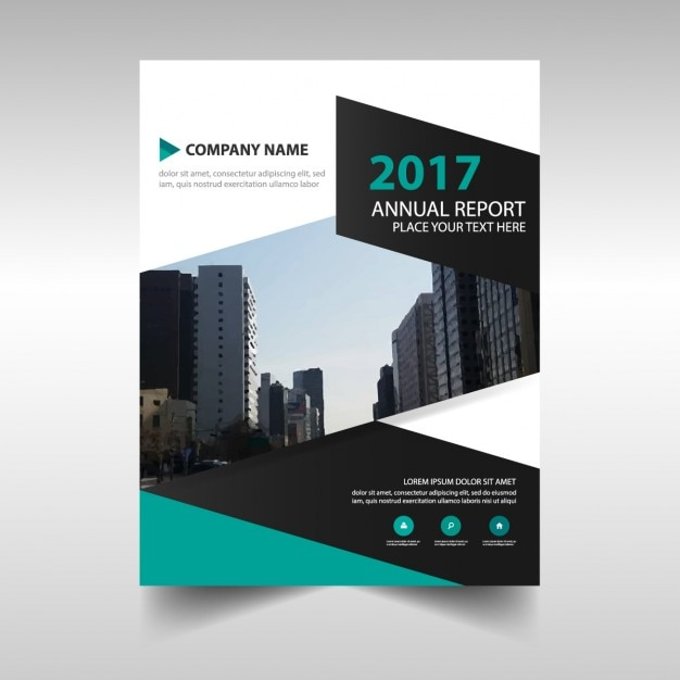 2017 Annual Report Abstract Brochure Template Free Vector