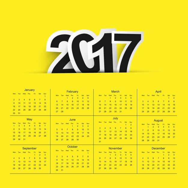 2017 calendar background Free Vector