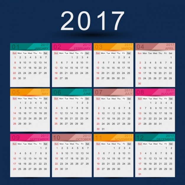 Calendar Design Free Download : Calendar design vector free download