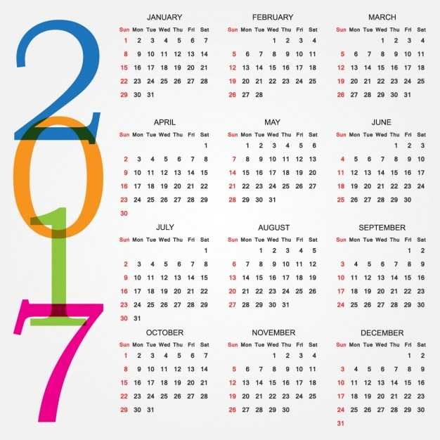 Calendar 2017 Vectors, Photos and PSD files | Free Download
