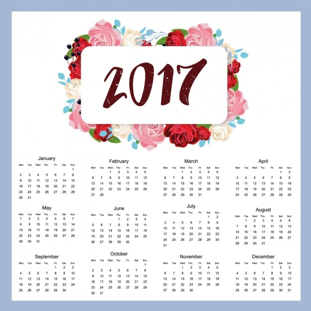 Image result for 2017 calendar