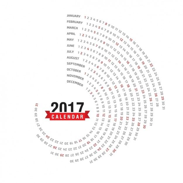 2017 calendar design Free