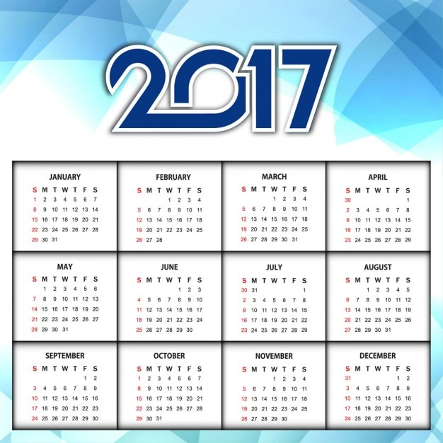 Calendar Background Vector : Calendar with a blue abstract background vector