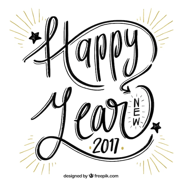 Happy New Year Lettering 45
