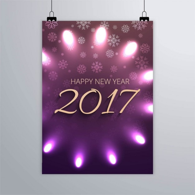 2017 poster of lights vector free download