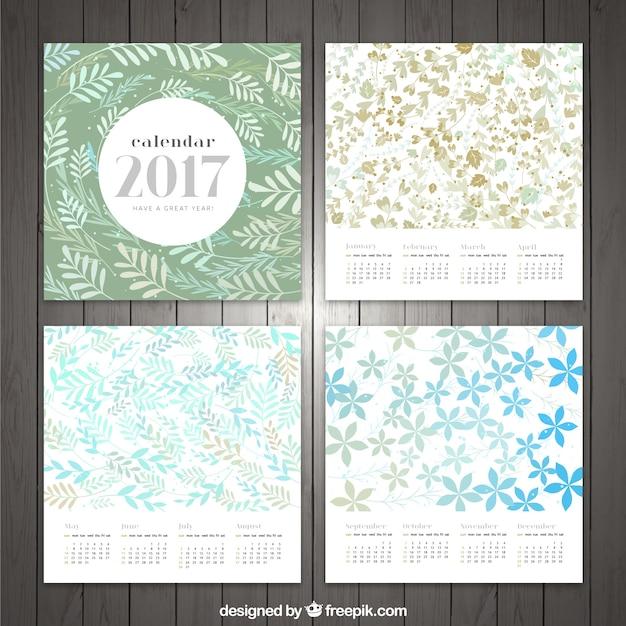 2017 vintage floral calendar
