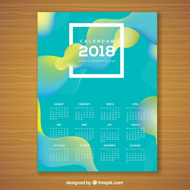Calendar Planner Vector Free : Abstract calendar vector free download