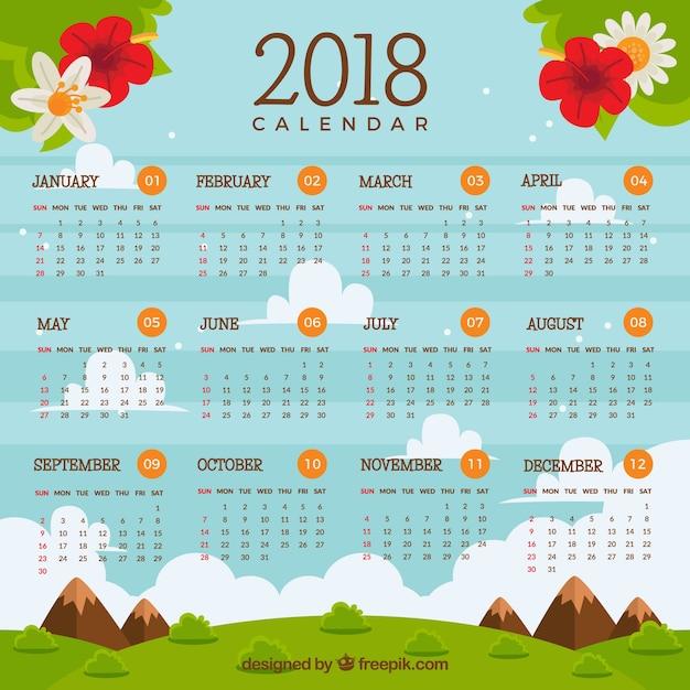 download free calendar 2018