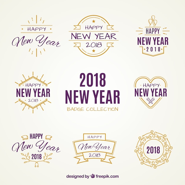 2018 new year badge collection