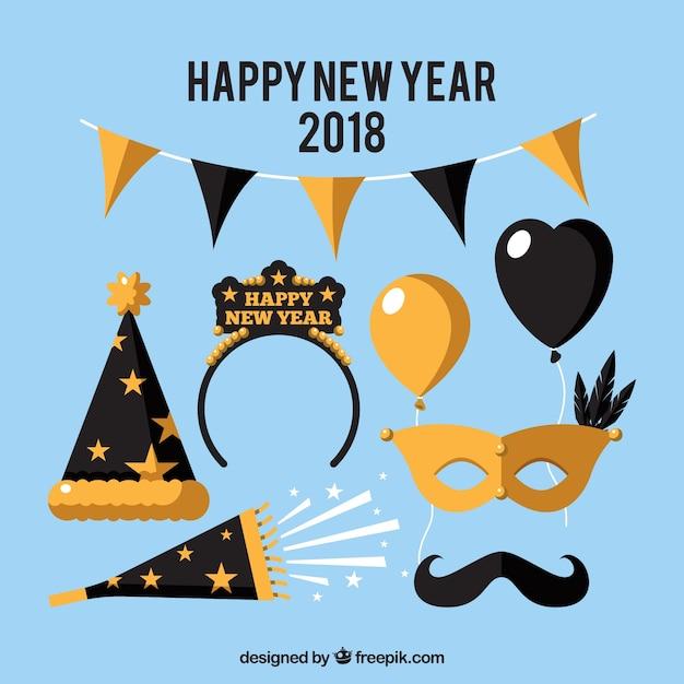 Happy New Year Flat Design 91