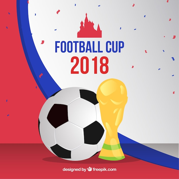 2018 world football cup background Free Vector