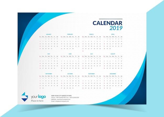 2019 business calendar template vector premium download 2019 business calendar template premium vector cheaphphosting Choice Image