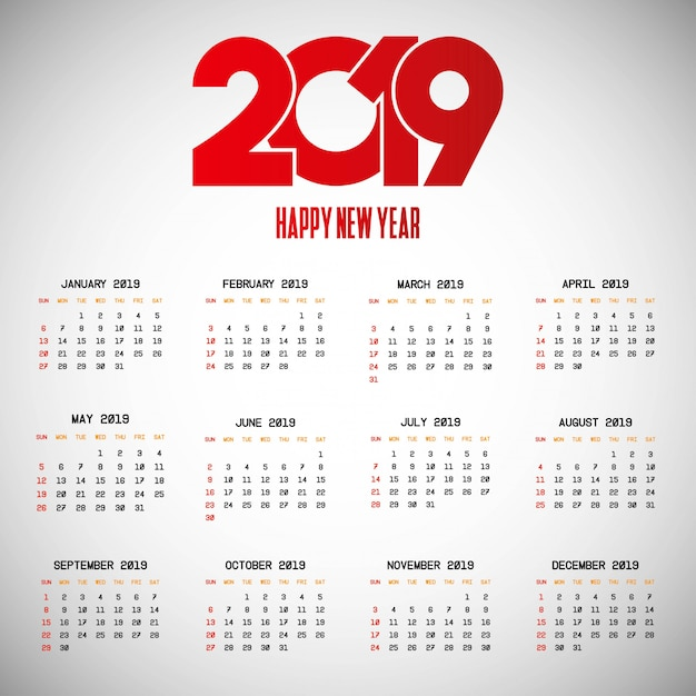 Image result for 2019 calendar