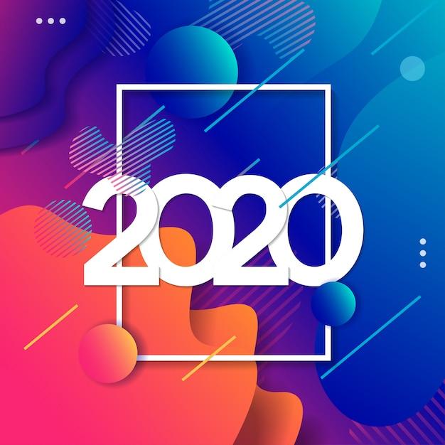 2019 happy new year background Premium Vector