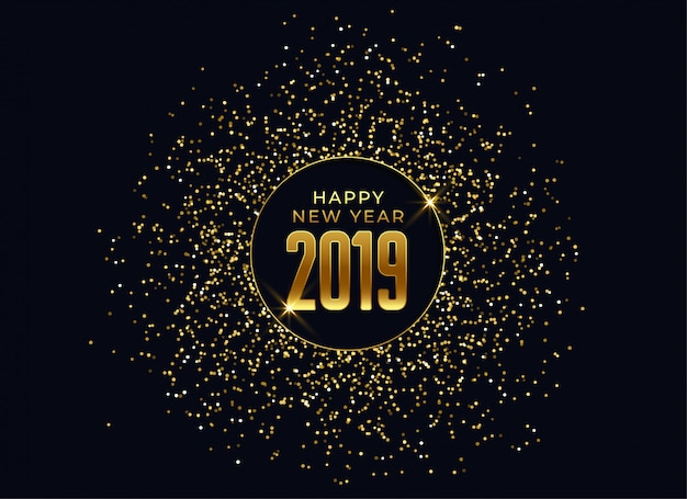 2019 happy new year celebration background Free Vector
