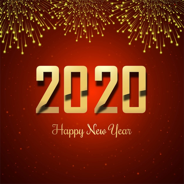 2019 happy new year gold glossy Free Vector