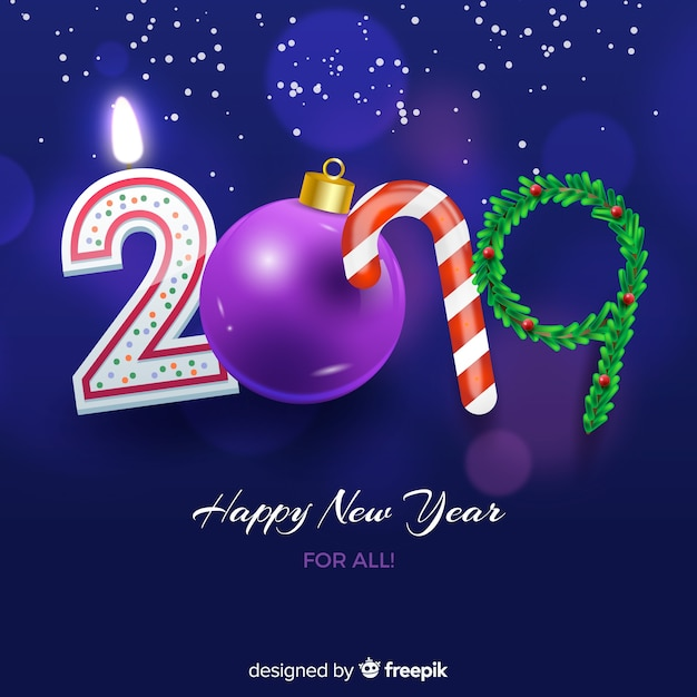 2019 new year background Free Vector