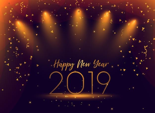 2019 new year celebration confetti\ background