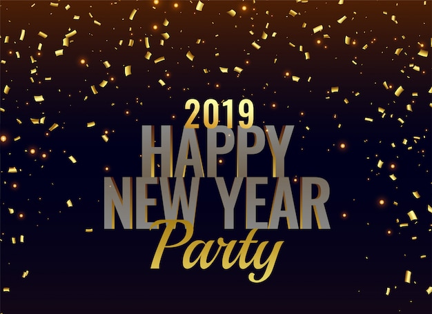 2019 new year party luxury background Free Vector