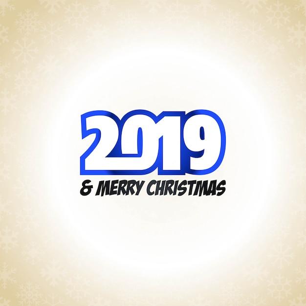 2019 new year typographic design vector Free Vector