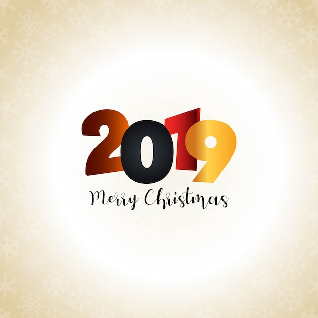 2019 new year typographic design vector Free Vector