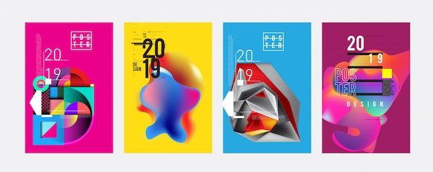 2019 poster design template Premium Vector