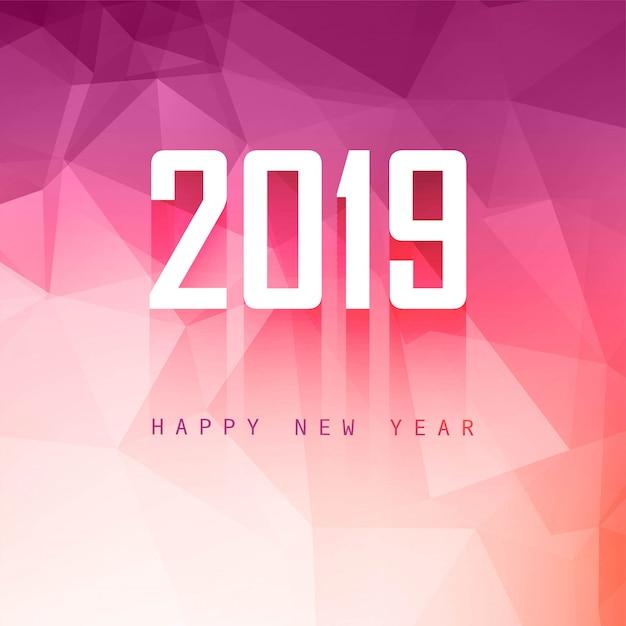 2019年新年の背景クリエイティブなデザインのベクトル 無料ベクター