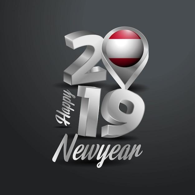 С новым годом 2019 серый типография Бесплатные векторы