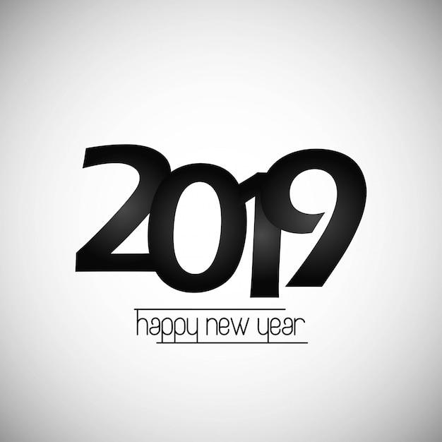 新年あけましておめでとうございます2019デザイン 無料ベクター