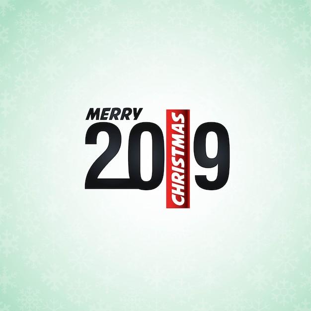 2019新しい年のタイポグラフィデザインベクトル 無料ベクター
