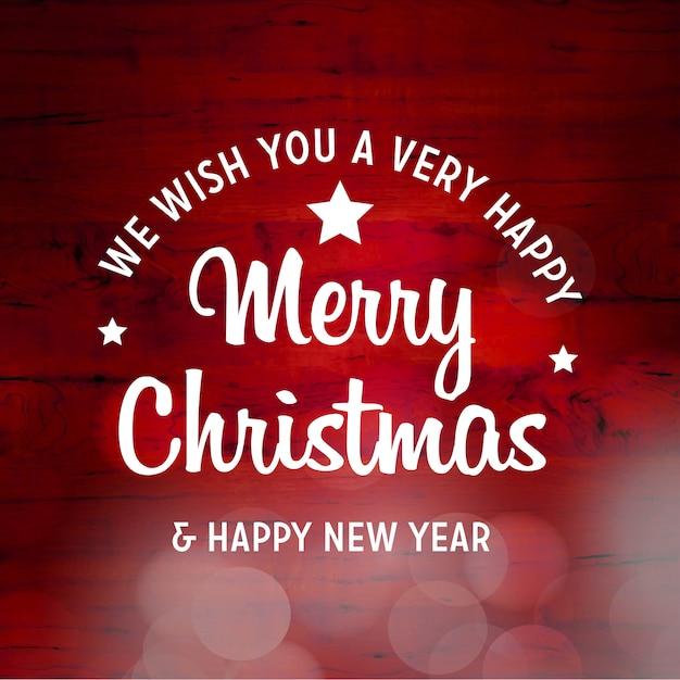 メリークリスマスと新年の幸せ2019背景 無料ベクター