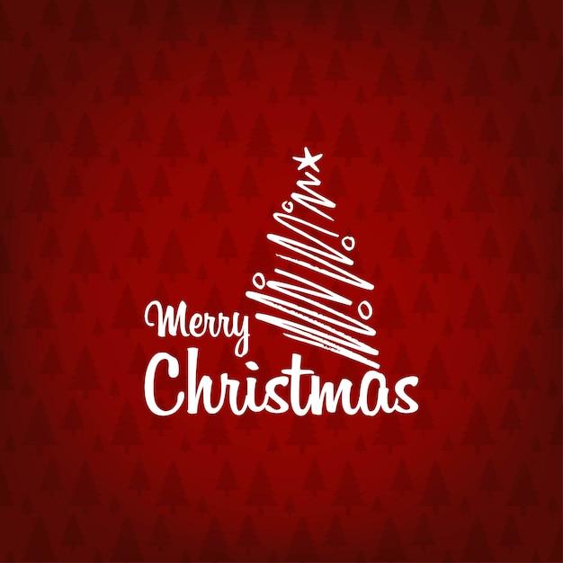 メリークリスマス2019の背景 無料ベクター