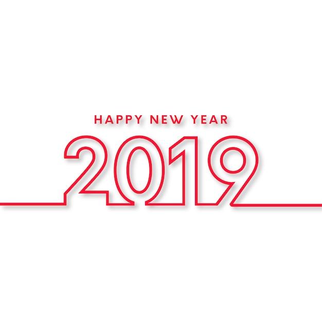 幸せな新年2019の背景 無料ベクター