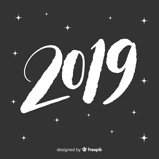 Творческий логотип 2019 Бесплатные векторы