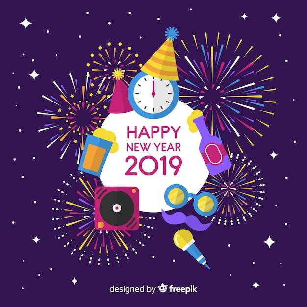 Новый год 2019 года Бесплатные векторы