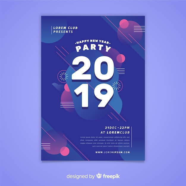 Новый год 2019 Бесплатные векторы