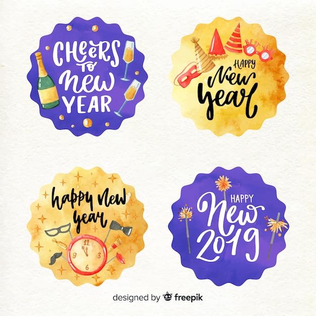 С новым годом 2019 Бесплатные векторы