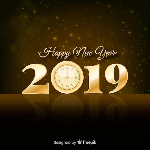 Серебряный новый год 2019 фон Бесплатные векторы