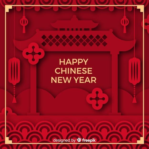 中国の新年2019 無料ベクター